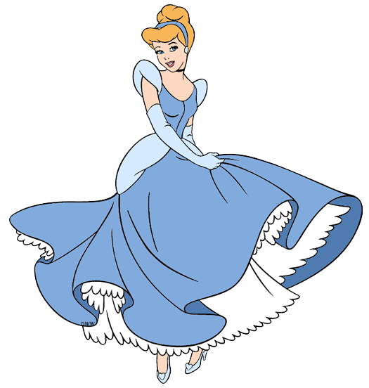 clip art black and white stock Cinderella clipart. Clip art disney galore.