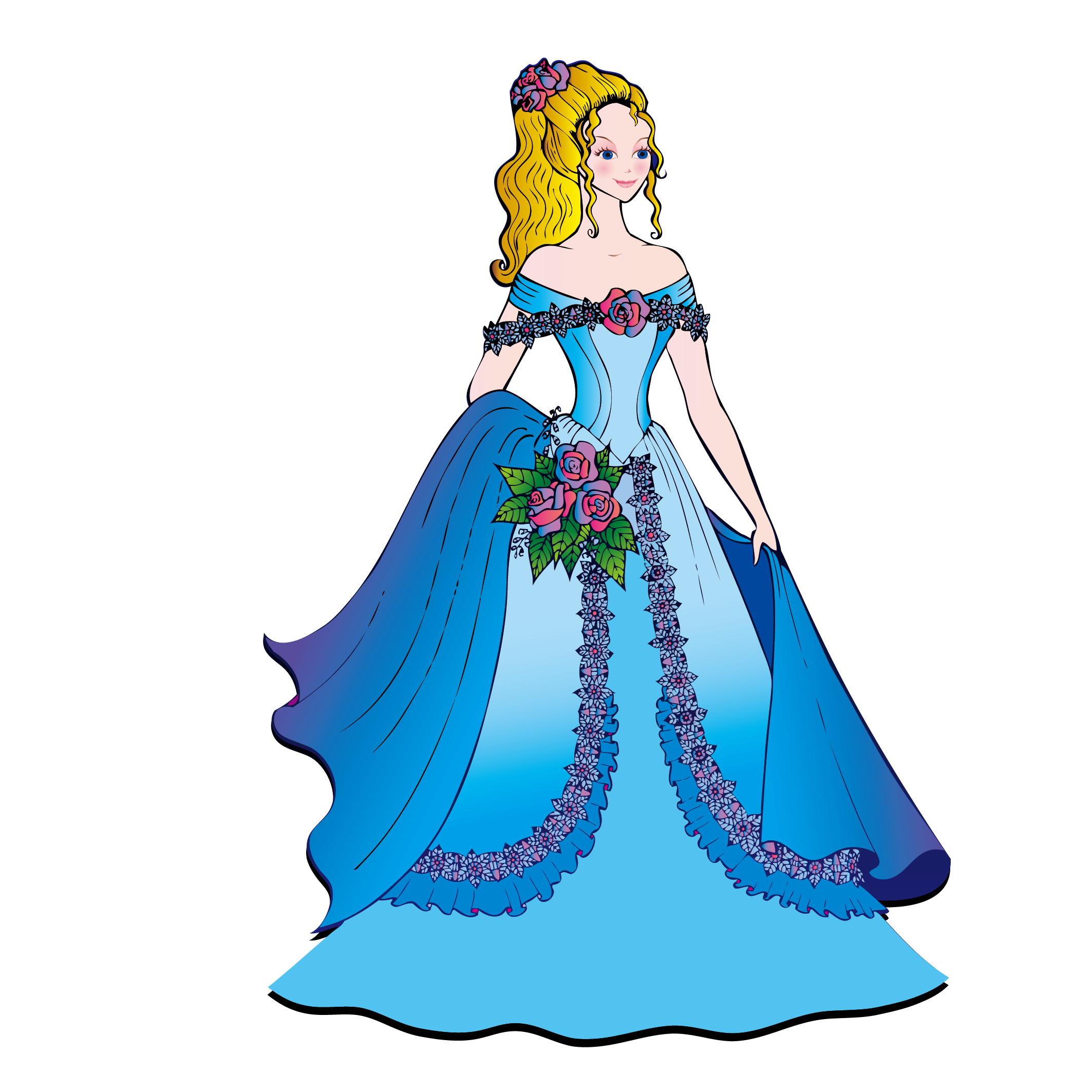 jpg library download Gown clipart beautiful dress. Cinderella wedding at getdrawings