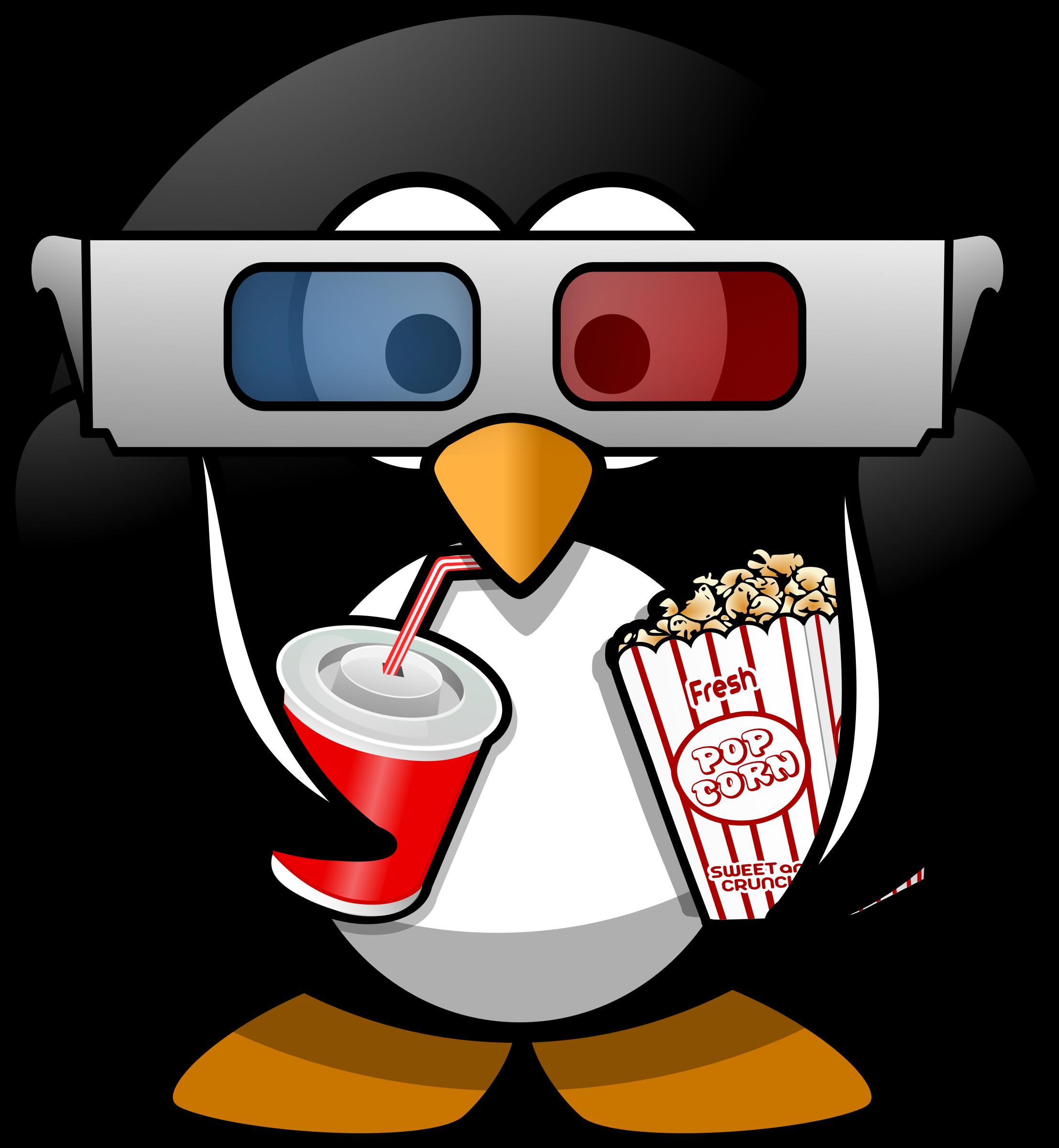image royalty free download Penguin big image png. Cinema clipart