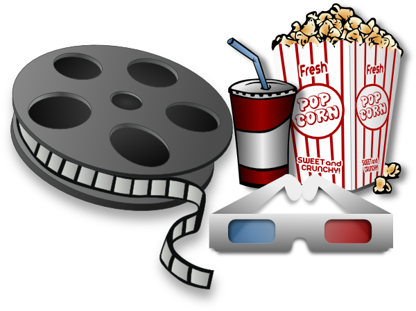 banner free stock Cinema clipart. Movie theater items clip.
