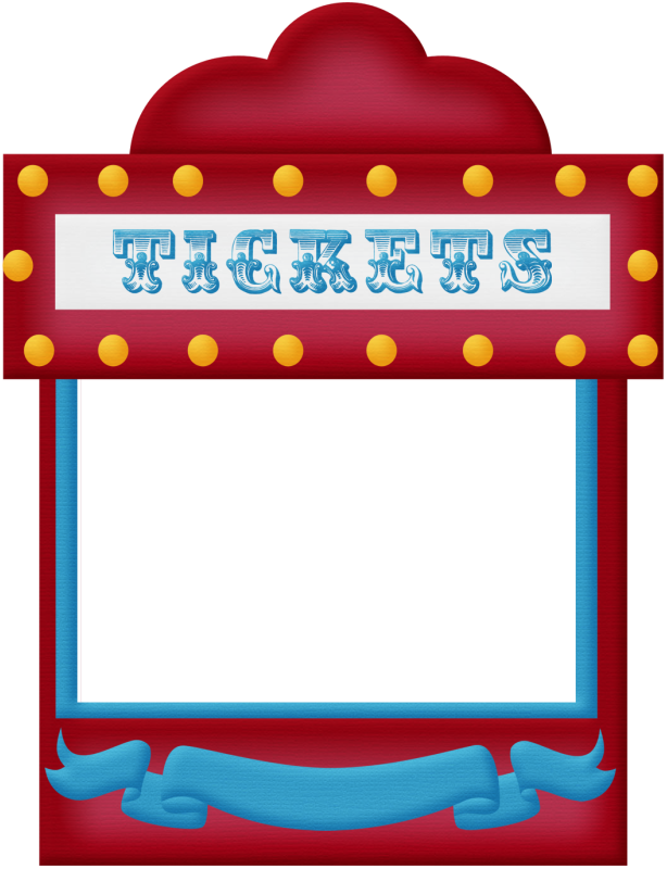 clipart transparent Carnival ticket booth clipart. Aw circus frame png