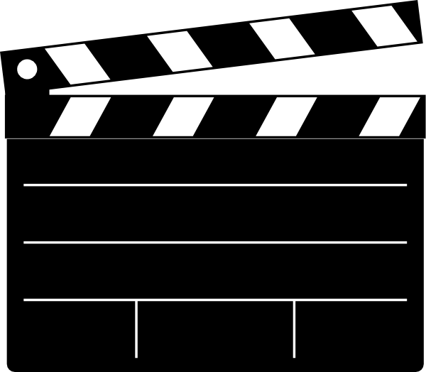 svg royalty free stock Clapper board clip art. Movies clipart film festival.