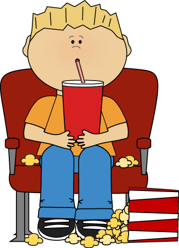 banner freeuse library Boy in movie with. Cinema clipart child theater.