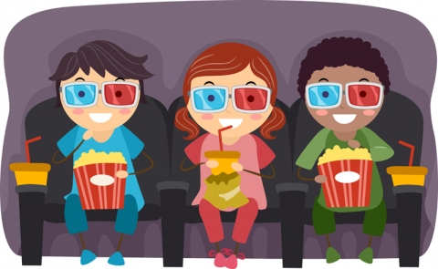 picture royalty free download Cinema clipart child theater.  summer movies for.