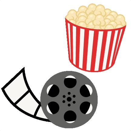 svg library Popcorn Movie Reel Movie Night SVG scrapbook cut file cute clipart