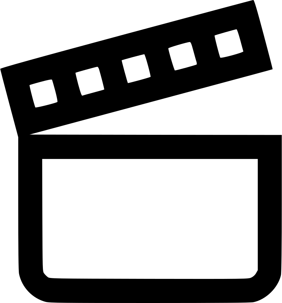 vector black and white download Movie Moviemaker Film Cut Svg Png Icon Free Download