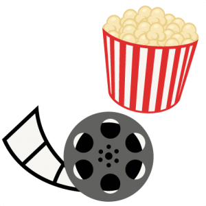 graphic library stock Cinema clipart movie party. Popcorn reel night svg.