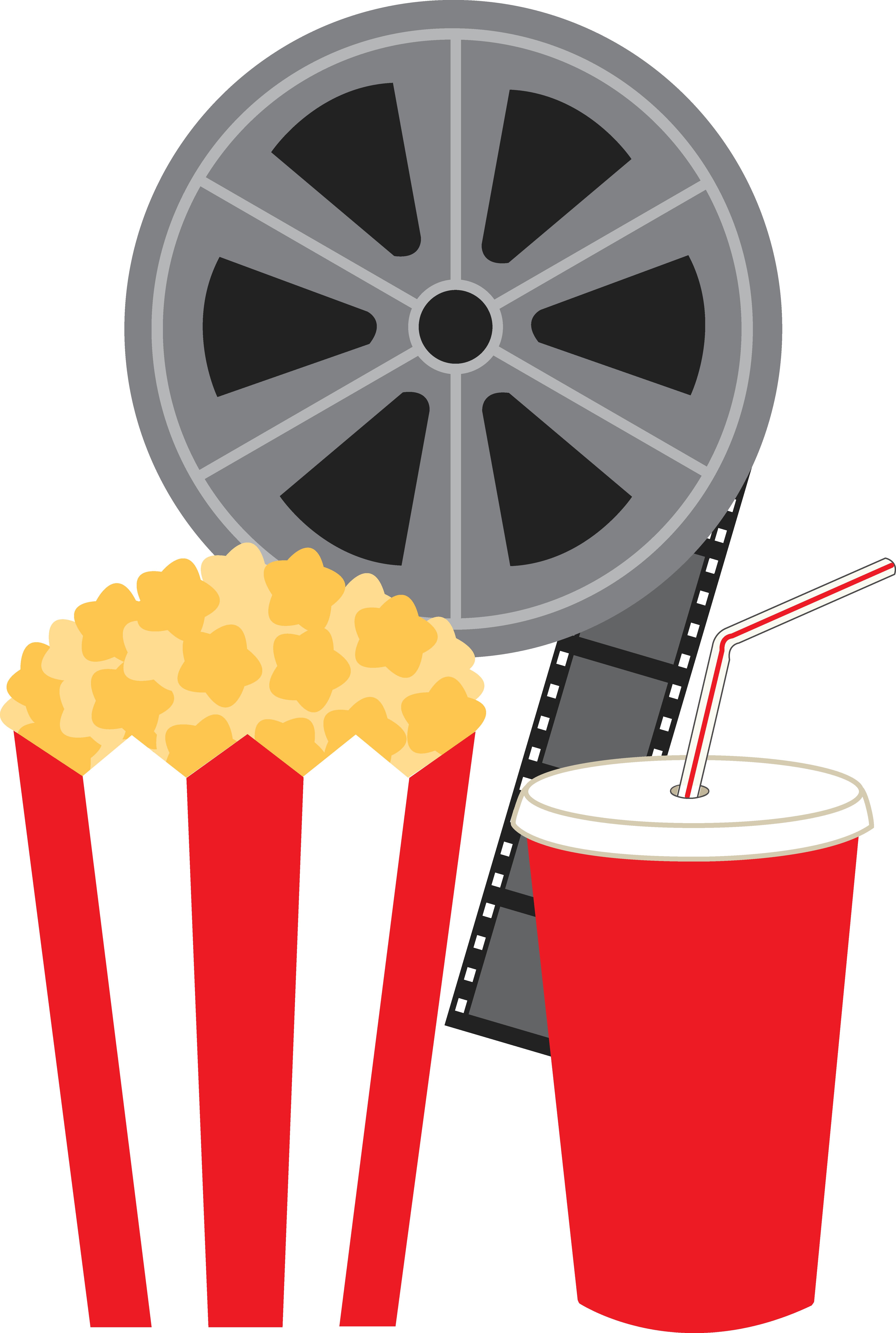 jpg stock Free clip art stickers. Cinema clipart movie party.
