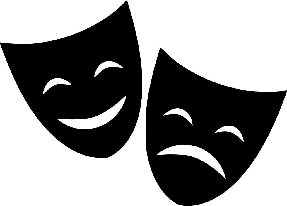 jpg freeuse stock Cinema clipart sad movie. Theater mask happy svg