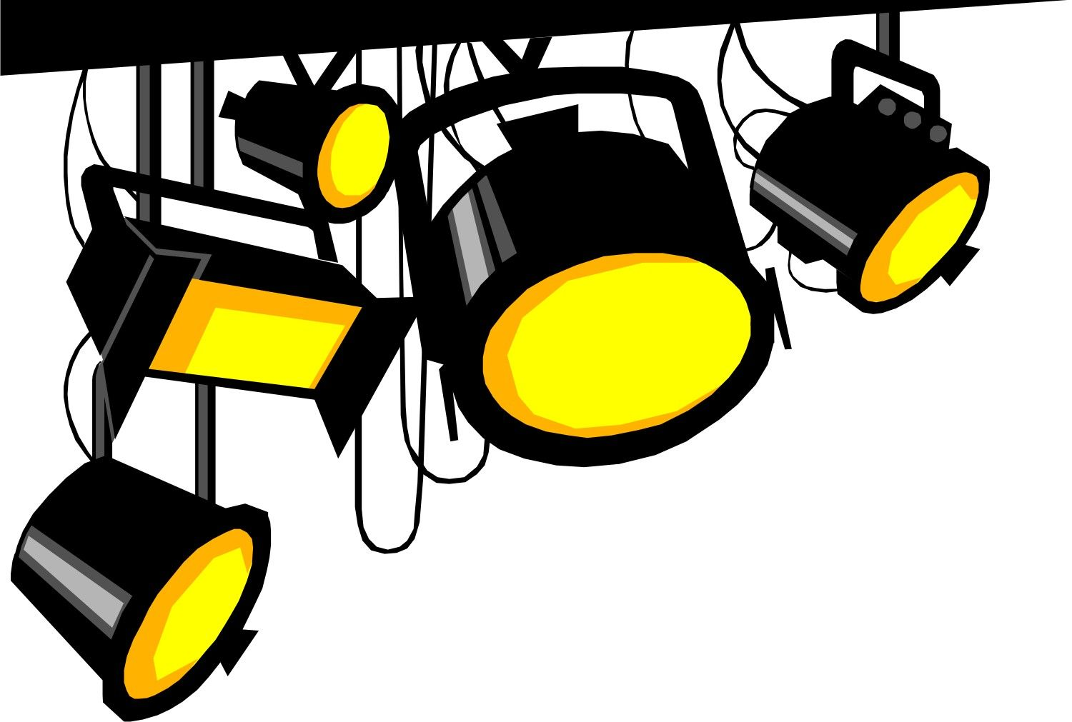 clip art library stock Cinema clipart stage spotlight.  pictures of spotlights.
