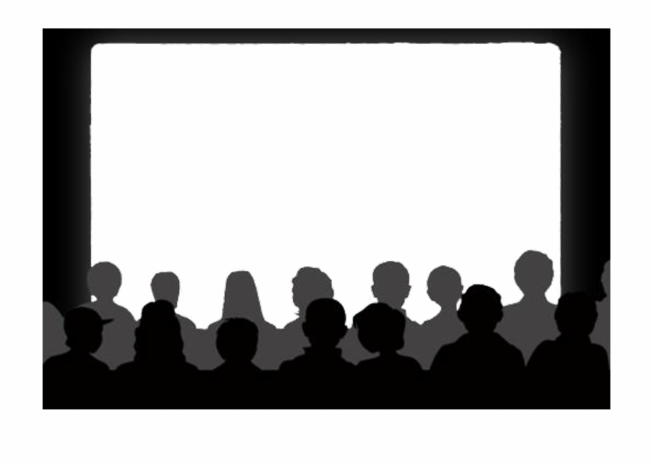 banner download Cinema clipart theater audience. Show movie silhouette .
