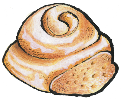 graphic royalty free download rolling clipart sticky bun #47373621