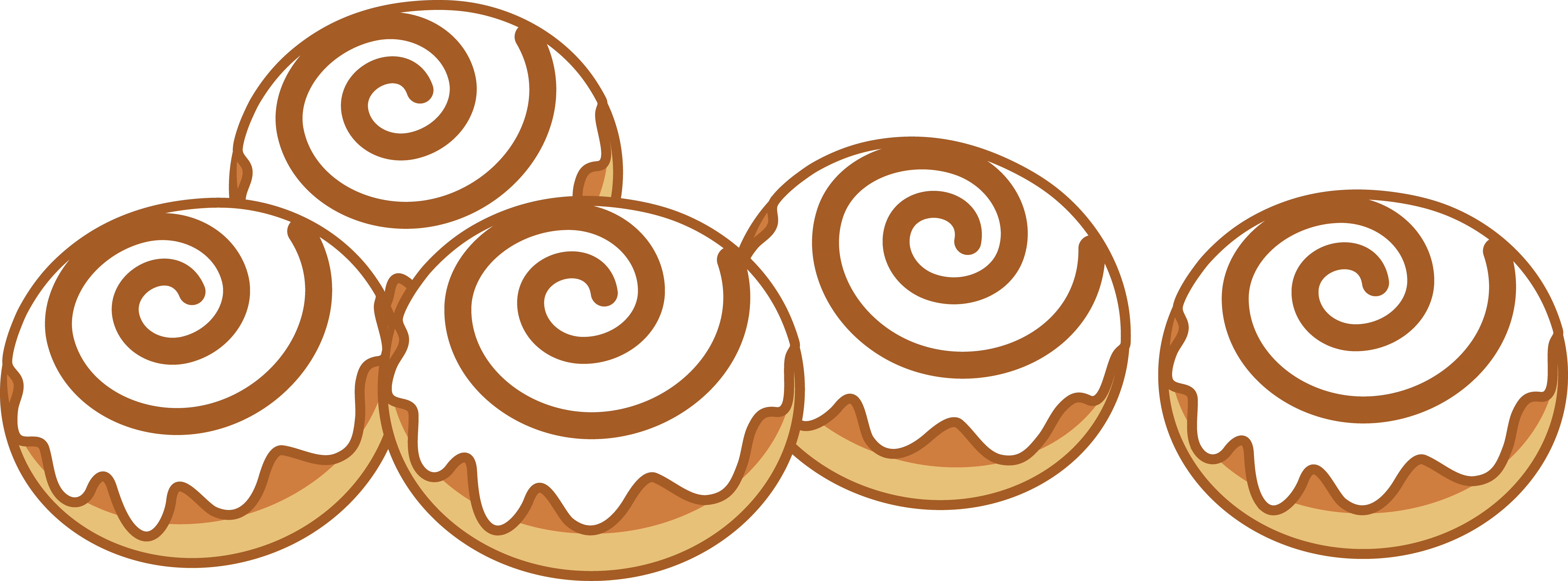 free library Cliparts free download best. Cinnamon roll clipart adorable.