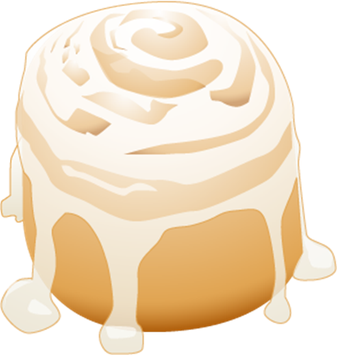 picture freeuse library Cinnamon roll clipart five. X making the web.