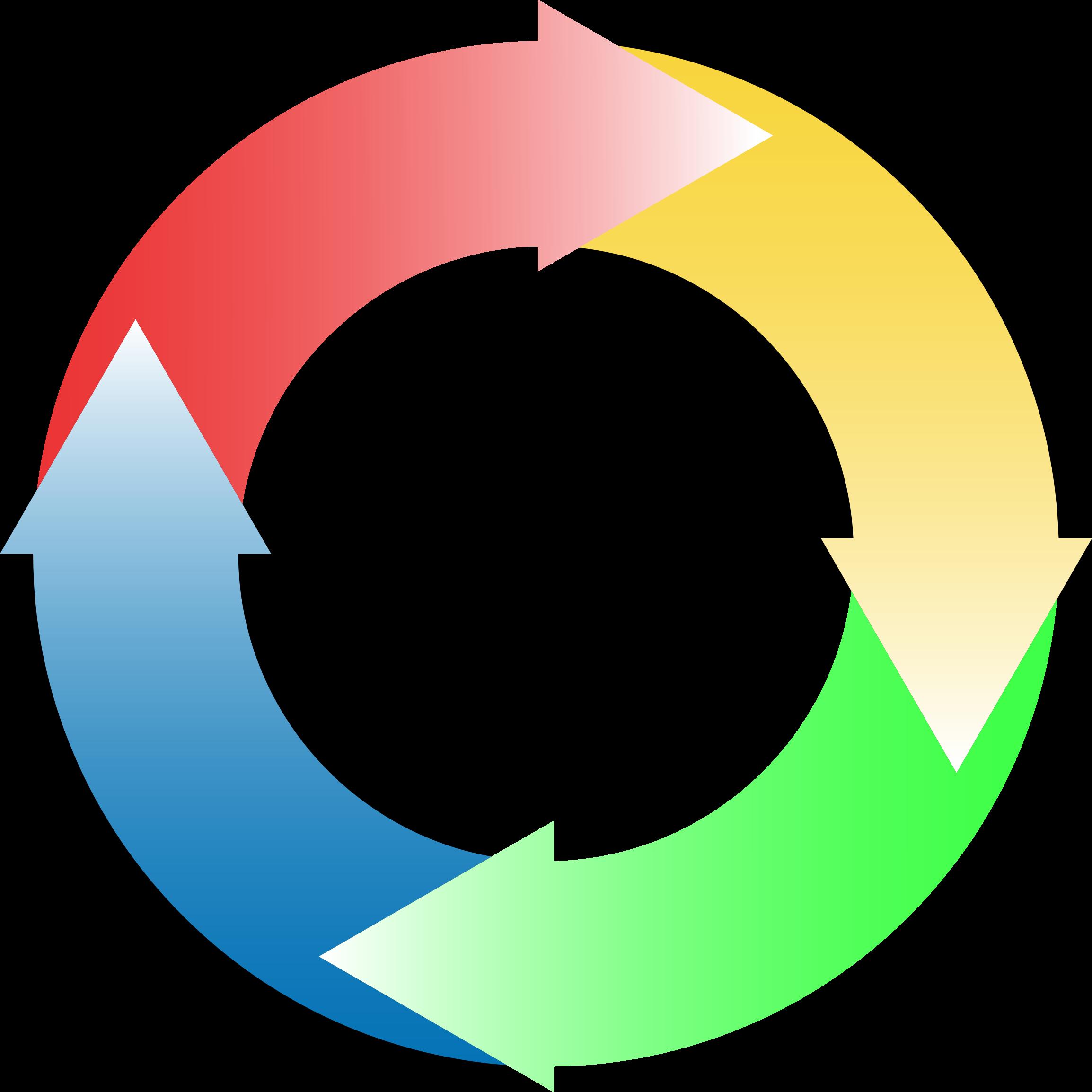 vector stock Circular icons png free. Circle of arrows clipart