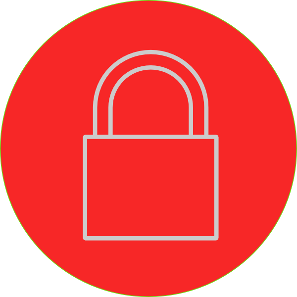 image freeuse Redpad Lock Clip Art at Clker