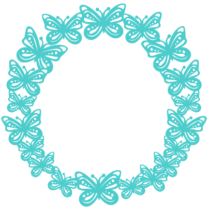 picture freeuse download Wreath svg scrapbook cut. Circle clipart butterfly.