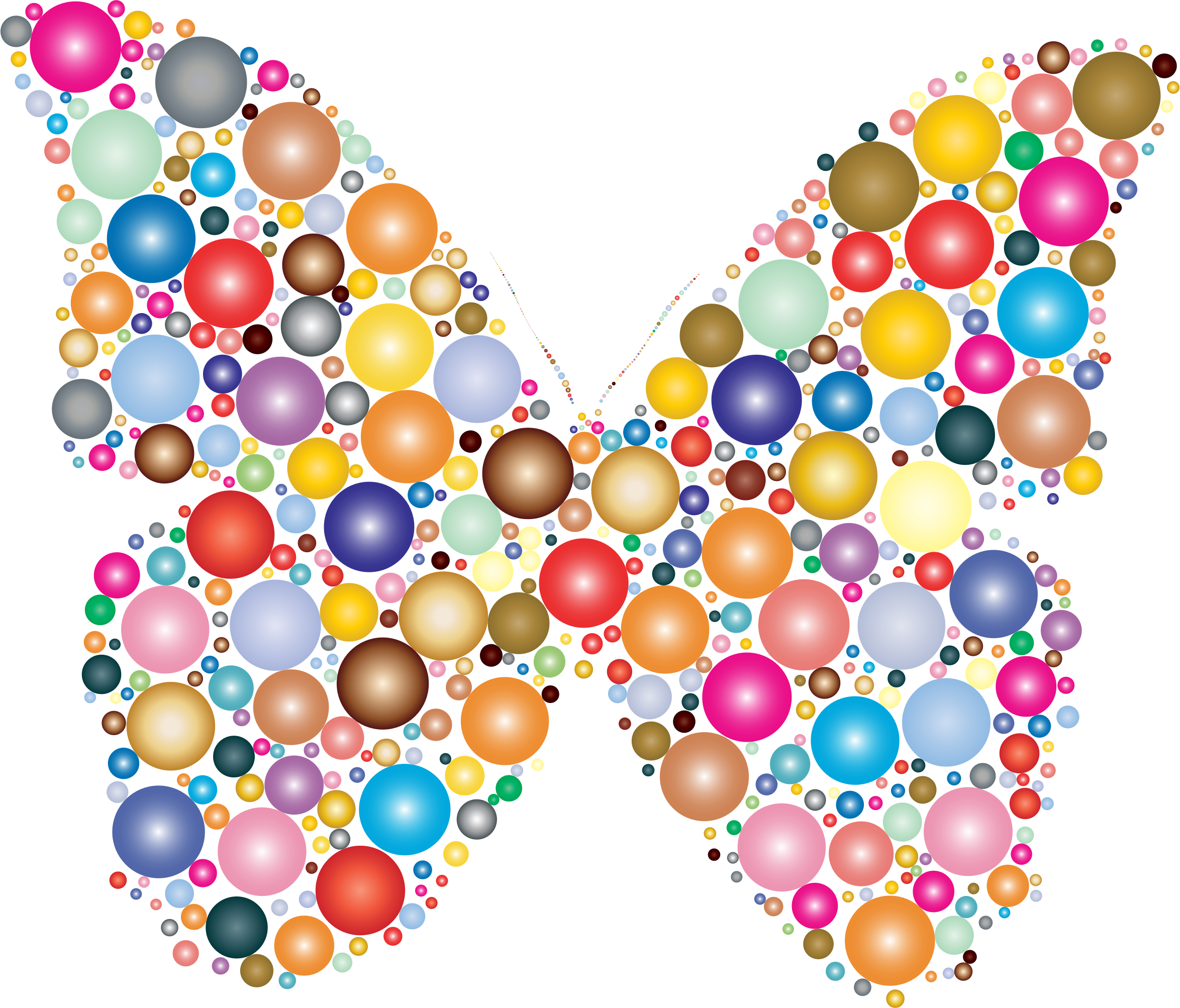 picture black and white library Circle clipart butterfly. Colorful circles icons png.
