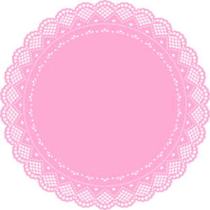 graphic Pink Doily Clip Art at Clker