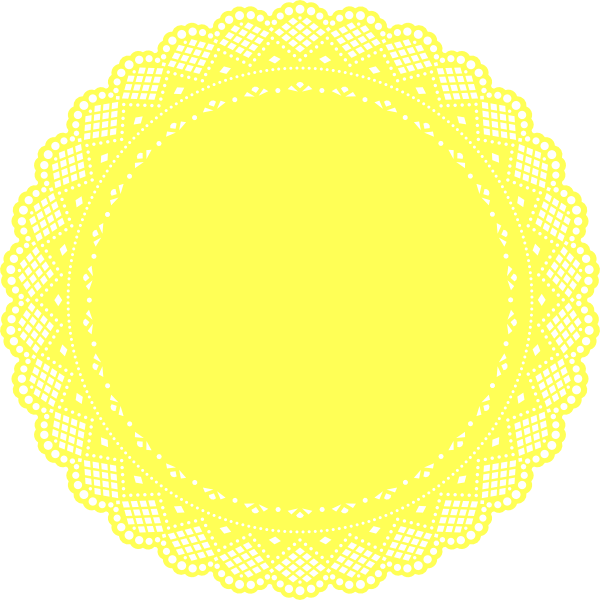jpg library stock Yellow clip art at. Lace doily clipart.