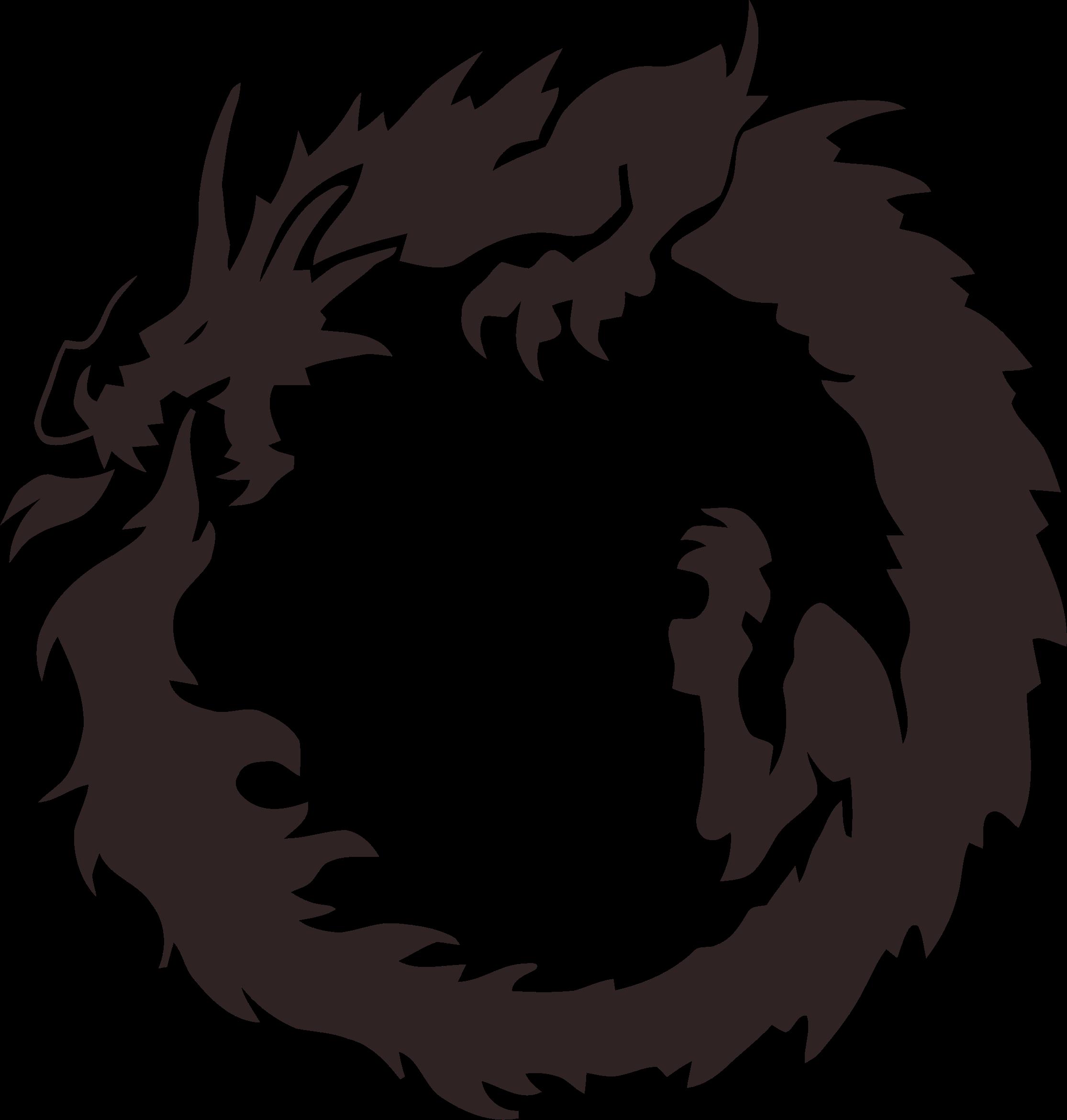 graphic library Tribal big image png. Circle clipart dragon.