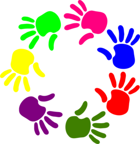 clip art library download Circle clipart hand. Of hands clip art.