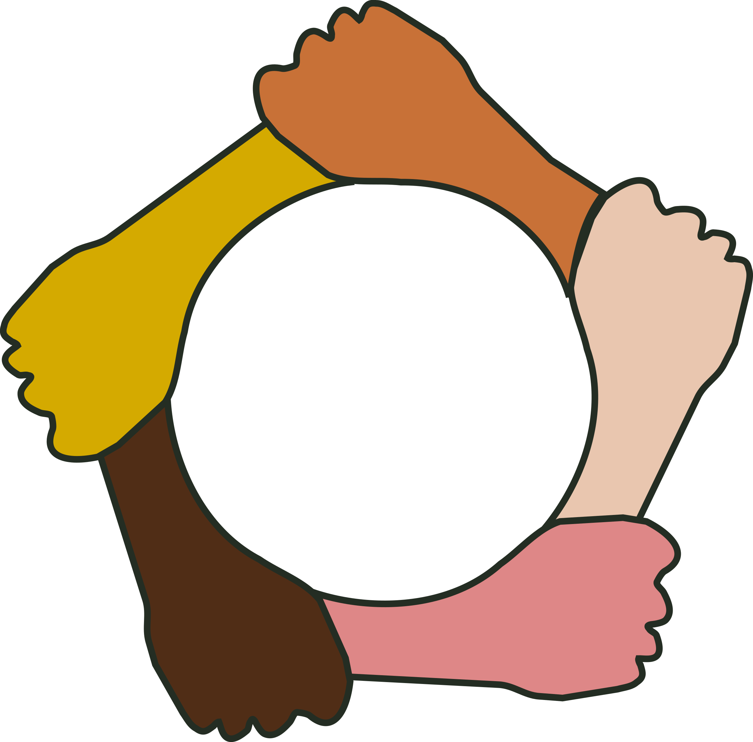 image free stock Circle clipart hand. Of hands big image.