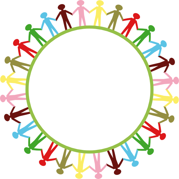 svg library stock Holding hands in a. Circle of friends clipart
