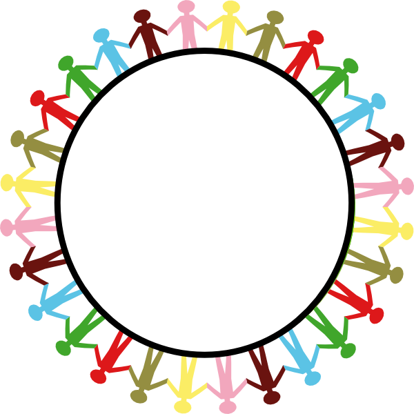 picture free library Circle of friends clipart. Holding hands clip art