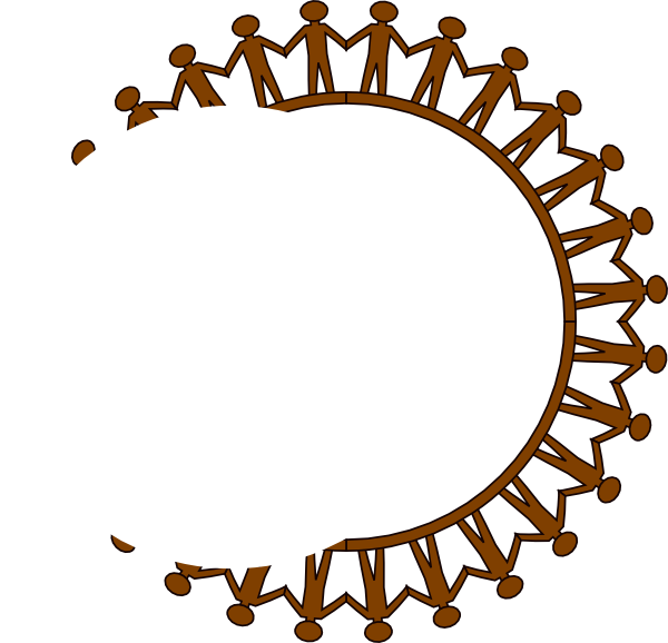 clip free library Stick people black no. Circle of friends clipart