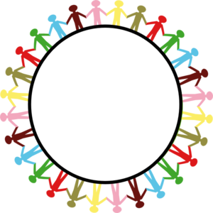svg library download Circle of friends clipart. Writing clip art hand