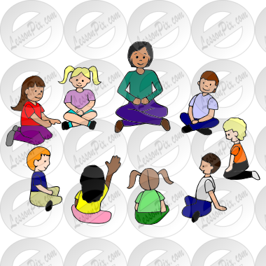 graphic stock Picture for classroom therapy. Circle time clipart.