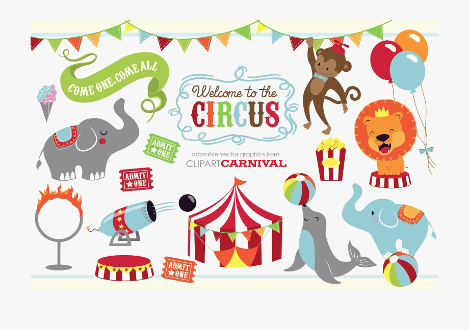 banner free stock Animals png image with. Circus animal clipart