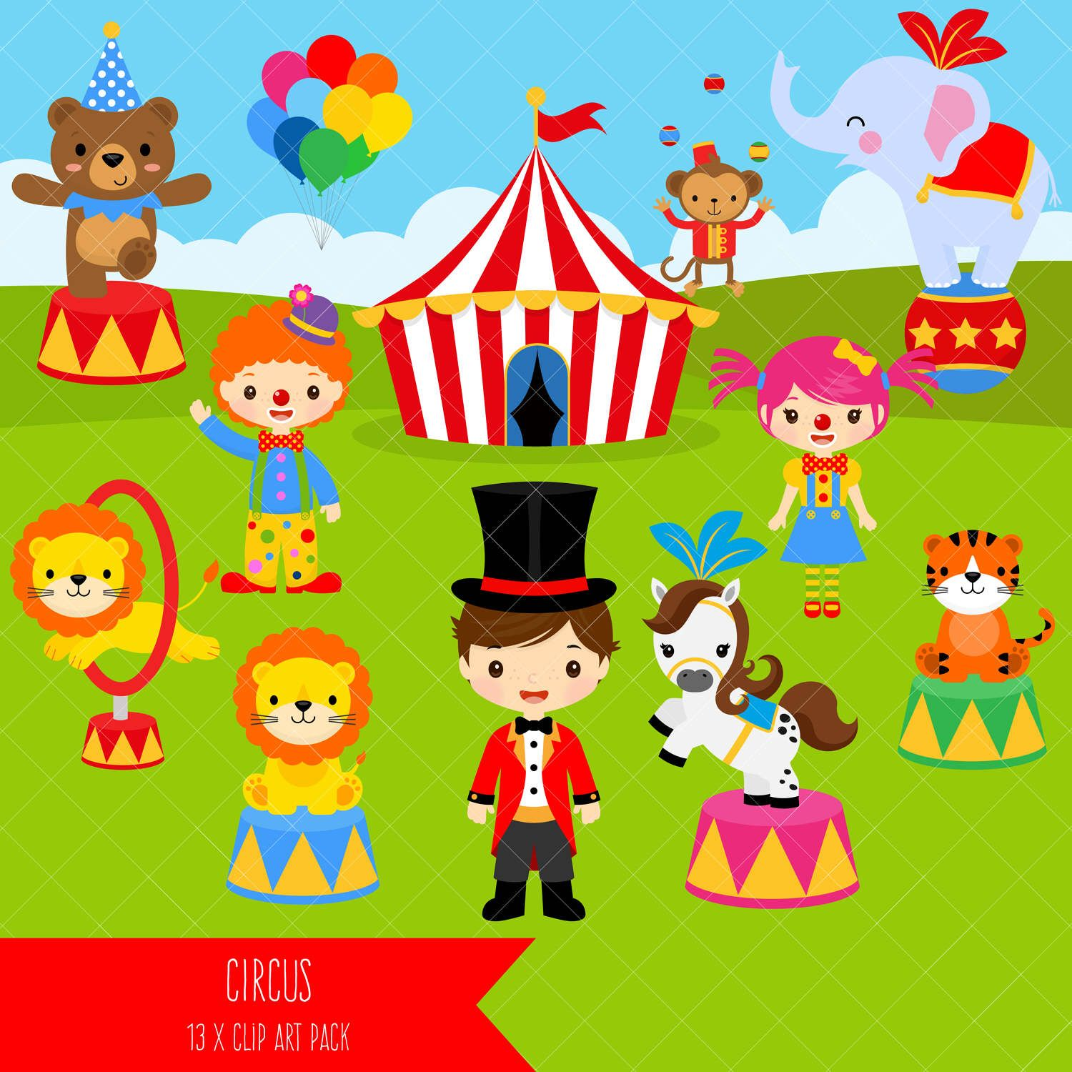 picture transparent library Carnival clip art clowns. Circus clipart