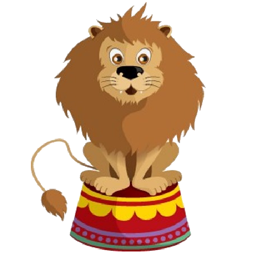 graphic stock Cartoon animals clip art. Circus animal clipart