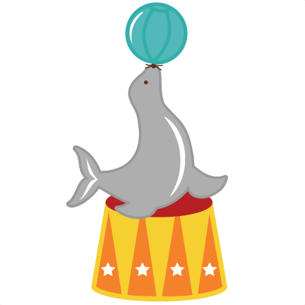graphic transparent download Seal svg files for. Circus animal clipart