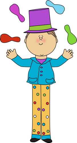 vector royalty free Kid on stilts juggling. Circus clipart circus performer.