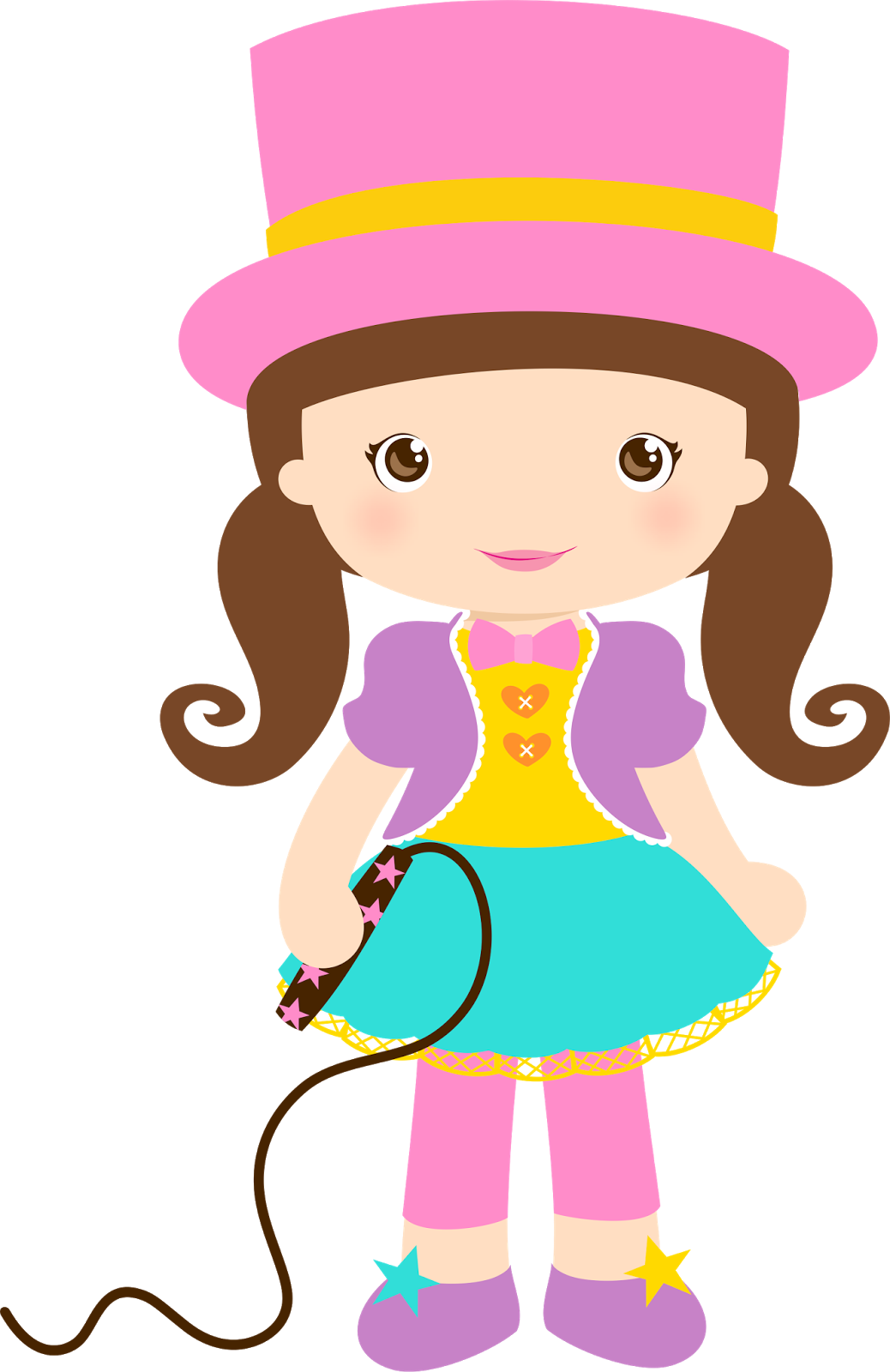 vector royalty free stock Clown girls png cumplea. Circus clipart female