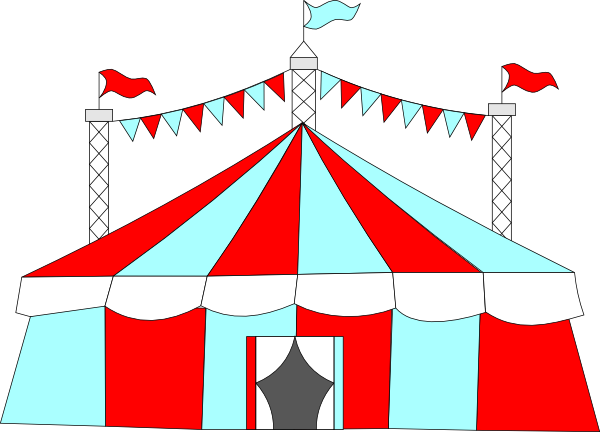 banner royalty free download Big top tent clip. Circus clipart vector.