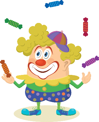png transparent library Circus Clown Juggling Candies