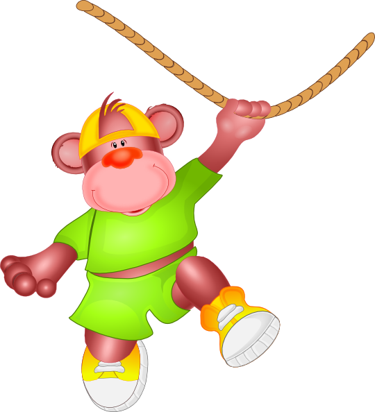 clipart royalty free Monkey jumping on rope. Goldfish crackers clipart
