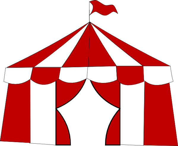 graphic royalty free library Red clip art at. Circus tent clipart