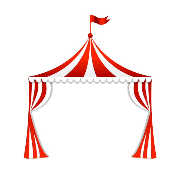 transparent download Carpa clip art fig. Circus tent clipart black and white