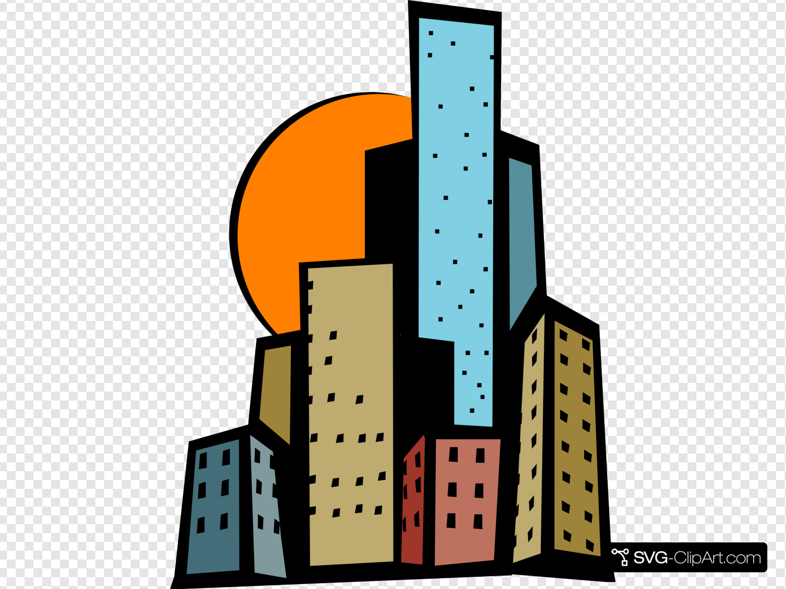 svg transparent stock Download for free png. City clipart