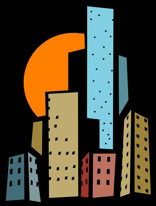 vector free download City Clipart cartoon