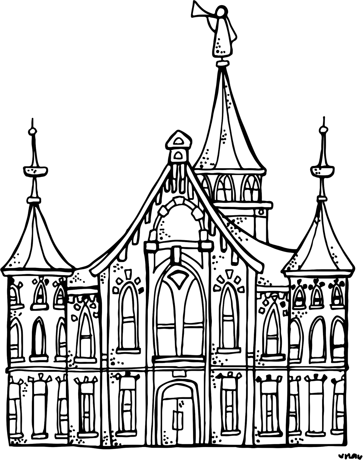 clip art black and white stock Lds clipart building. Melonheadz illustrating provo city.