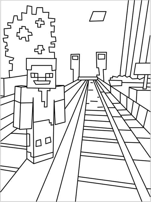 vector transparent stock Printable city coloring pages. Drawing printables minecraft