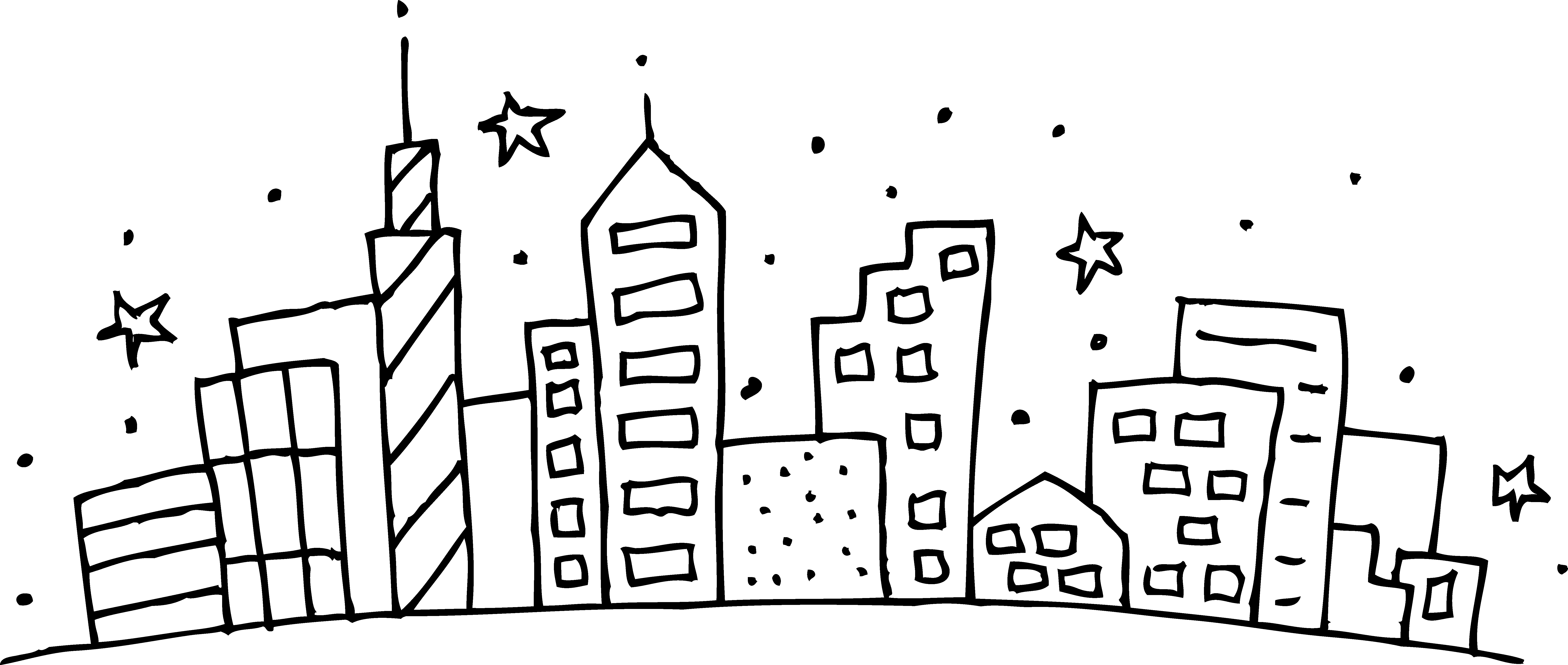 image download City Coloring Page Colouring Photos Of Fancy Cityscape Free Clip Art