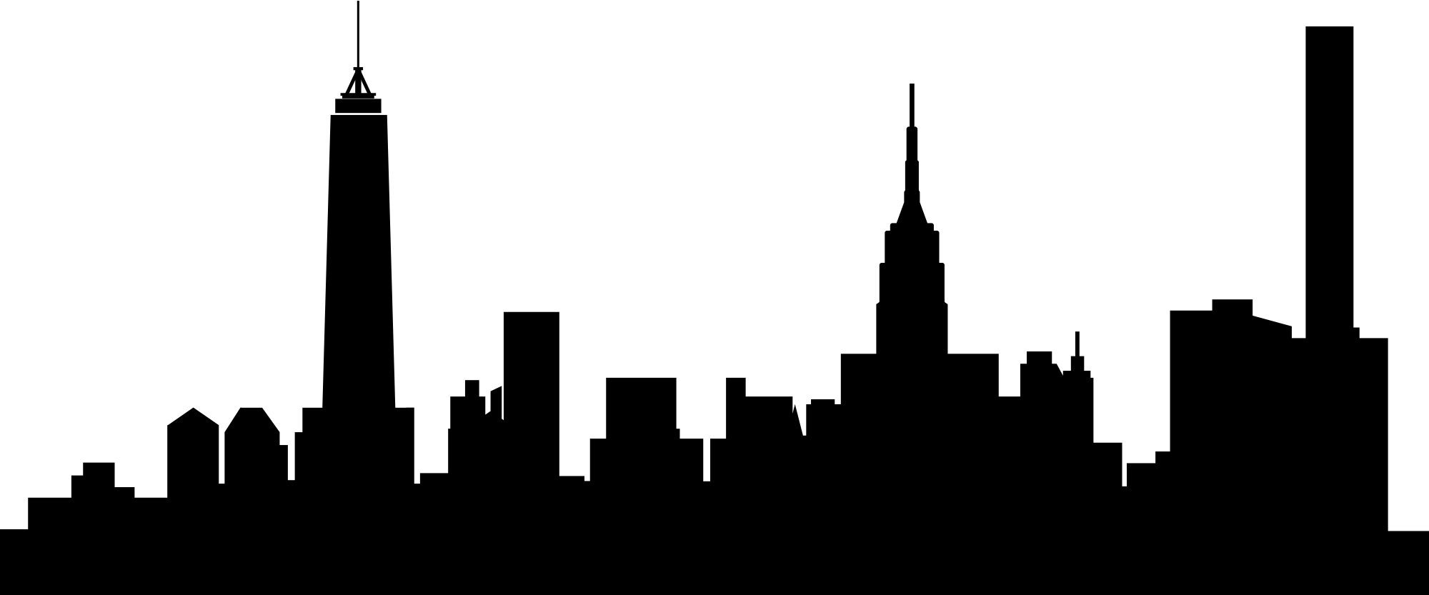 banner library library Ny silhouette at getdrawings. City clipart skyline nyc.