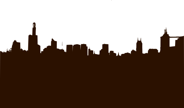 clip art download Basic City Silhouette Clip Art at Clker
